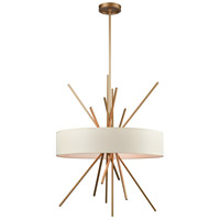 Xenia 5 Light 25 inch Matte Gold Chandelier Ceiling Light