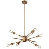 Xenia 6 Light 22 inch Matte Gold Chandelier Ceiling Light