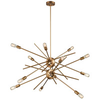 Xenia 12 Light 42 inch Matte Gold Chandelier Ceiling Light