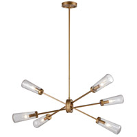 Xenia 6 Light 42 inch Matte Gold Billiard Island Ceiling Light