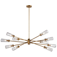 Xenia 10 Light 54 inch Matte Gold Billiard Island Ceiling Light