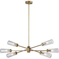 ELK 66984/6 Xenia 6 Light 38 inch Matte Gold Chandelier Ceiling Light