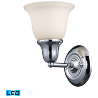 Berwick LED 7 inch Polished Chrome Bath Bar Wall Light in 1