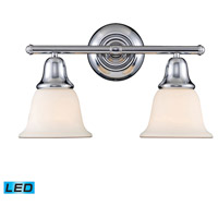 ELK Lighting Berwick 2 Light Bath Bar in Polished Chrome 67011-2-LED