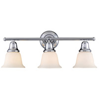 Berwick 3 Light 27 inch Polished Chrome Bath Bar Wall Light in Standard