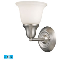 Berwick LED 7 inch Brushed Nickel Bath Bar Wall Light in 1