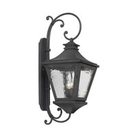 Manor 3 Light 33 inch Charcoal Outdoor Wall Lantern