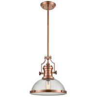 ELK 67743-1 Chadwick 1 Light 13 inch Copper Pendant Ceiling Light