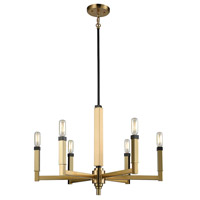 Mandeville 6 Light 23 inch Satin Brass with Oil Rubbed Bronze Chandelier Ceiling Light