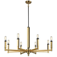 Mandeville 8 Light 31 inch Satin Brass with Oil Rubbed Bronze Chandelier Ceiling Light