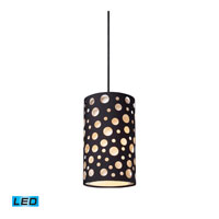 ELK Lighting Enchantment 1 Light Pendant in Matte Black 68000-1-LED