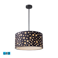 ELK Lighting Enchantment 3 Light Pendant in Matte Black 68001-1-LED