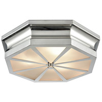 ELK 68100/3 Windsor 3 Light 16 inch Polished Nickel Flush Mount Ceiling Light