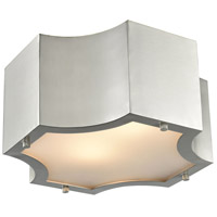 Gordon 2 Light 11 inch Satin Nickel Flush Mount Ceiling Light