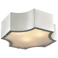 Gordon 3 Light 15 inch Satin Nickel Flush Mount Ceiling Light