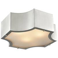 ELK 68121/3 Gordon 3 Light 15 inch Satin Nickel Flush Mount Ceiling Light