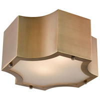 Gordon 2 Light 11 inch Classic Brass Flush Mount Ceiling Light