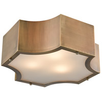 Gordon 3 Light 15 inch Classic Brass Flush Mount Ceiling Light