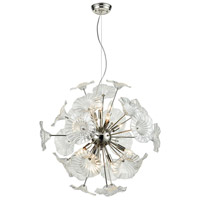 Vershire 12 Light 27 inch Polished Nickel Pendant Ceiling Light