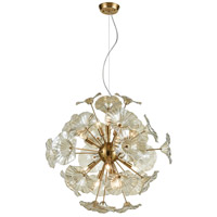 ELK 68146/12 Vershire 12 Light 27 inch Satin Brass Pendant Ceiling Light