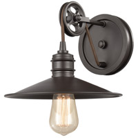 ELK 69084/1 Spindle Wheel 1 Light 11 inch Oil Rubbed Bronze Vanity Light Wall Light
