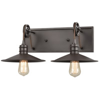 ELK 69085/2 Spindle Wheel 2 Light 20 inch Oil Rubbed Bronze Vanity Light Wall Light