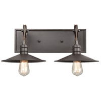 ELK 69085/2 Spindle Wheel 2 Light 20 inch Oil Rubbed Bronze Vanity Light Wall Light alternative photo thumbnail