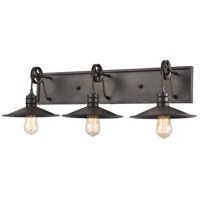 ELK 69086/3 Spindle Wheel 3 Light 31 inch Oil Rubbed Bronze Vanity Light Wall Light