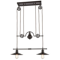 ELK 69088/2 Spindle Wheel 2 Light 28 inch Oil Rubbed Bronze Island Light Ceiling Light