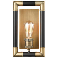 ELK 69210/1 Lisbon 1 Light 5 inch Classic Brass with Oil Rubbed Bronze Sconce Wall Light