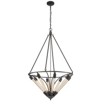 Centrifugal 8 Light 27 inch Oil Rubbed Bronze Pendant Ceiling Light