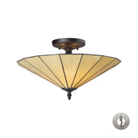 ELK Lighting Lumino 3 Light Semi Flush in Hazy Beige/Matte Black with Recessed Conversion Kit 70001-3HB-LA