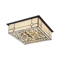 Adamson 2 Light 14 inch Matte Black Flush Mount Ceiling Light