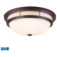 ELK 70014-3-LED Tiffany LED 16 inch Oiled Bronze Flush Mount Ceiling Light
