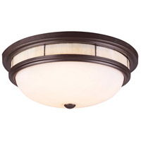 ELK Lighting Tiffany 3 Light Flush Mount in Oiled Bronze 70014-3