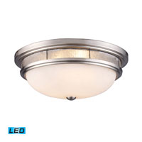 ELK Lighting Tiffany 3 Light Flush Mount in Satin Nickel 70017-3-LED
