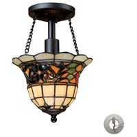 ELK Lighting Tiffany Buckingham 1 Light Semi-Flush Mount in Vintage Antique 70021-1-LA