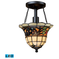 ELK 70021-1-LED Tiffany Buckingham LED 8 inch Vintage Antique Semi-Flush Mount Ceiling Light in Standard