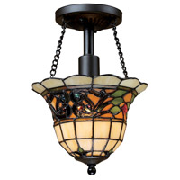 Tiffany Buckingham 1 Light 8 inch Vintage Antique Semi-Flush Mount Ceiling Light in Incandescent, Standard
