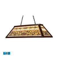 Tiffany Buckingham LED 44 inch Dark Mahogany Wood Billiard/Island Ceiling Light
