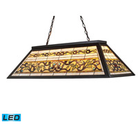 ELK 70023-4-LED Tiffany Buckingham LED 44 inch Tiffany Bronze Billiard/Island Ceiling Light