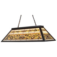 ELK 70023-4 Tiffany Buckingham 4 Light 44 inch Tiffany Bronze Billiard/Island Ceiling Light in Standard