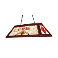 ELK Lighting Tiffany 4 Light Billiard/Island in Dark Mahogany Wood 70052-4