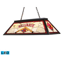 ELK 70053-4-LED Tiffany Lighting LED 44 inch Tiffany Bronze Billiard Light Ceiling Light