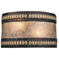 Mica Filigree 2 Light 10 inch Tiffany Bronze Wall Sconce Wall Light