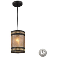 ELK 70066-1-LA Mica Filigree 1 Light 6 inch Tiffany Bronze Pendant Ceiling Light in Recessed Adapter Kit