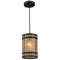 ELK 70066-1 Mica Filigree 1 Light 6 inch Tiffany Bronze Pendant Ceiling Light