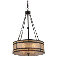 Mica Filigree 3 Light 18 inch Tiffany Bronze Pendant Ceiling Light