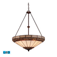 ELK Lighting Stone Filigree 4 Light Pendant in Burnished Copper 70079-4-LED