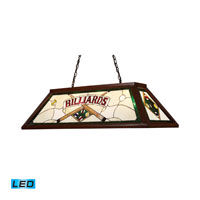 ELK Lighting Tiffany 4 Light Billiard/Island in Dark Mahogany Wood 70082-4-LED